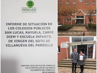 El colectivo de padres y madres y Partido Local toman medidas para buscar soluciones urgentes ante e