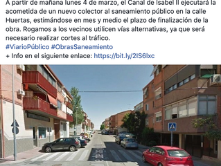 Expliquemos bien las obras de calle Huertas. 6 meses después.