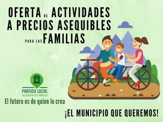 ¡El municipio que queremos! Decimosexto compromiso de gobierno: Oferta de actividades a precios aseq