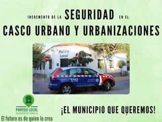 ¡El municipio que queremos! Decimoctavo compromiso de gobierno: Incremento se la seguridad en el cas