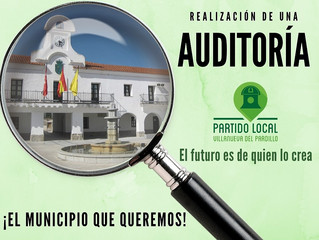 ¡El municipio que queremos! Primer compromiso de gobierno: Auditoría