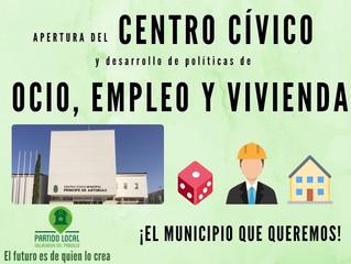 ¡El municipio que queremos! Undécimo compromiso de gobierno: Apertura del Centro Cívico y desarrollo