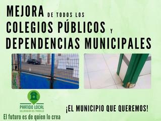 ¡El municipio que queremos! Quinto compromiso de gobierno: Mejora de todos los colegios públicos y d