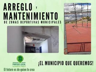 ¡El municipio que queremos! Octavo compromiso de gobierno: Arreglo y mantenimiento de zonas deportiv
