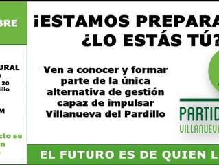 28 DE SEPTIEMBRE - ACTO DE PRESENTACIÓN (20:00H) EN EL CENTRO CULTURAL TAMARA ROJO