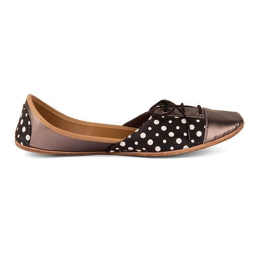 Grey Polka Sneakers