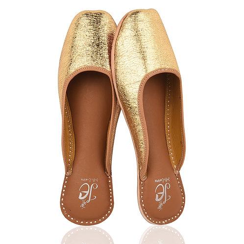 Golden Back Open slippers Juttis