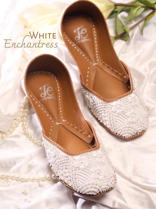 White Pearl Juttis