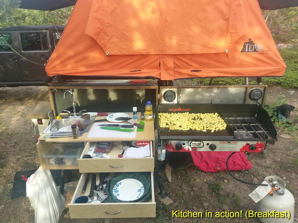 kitchen in action - breakfast