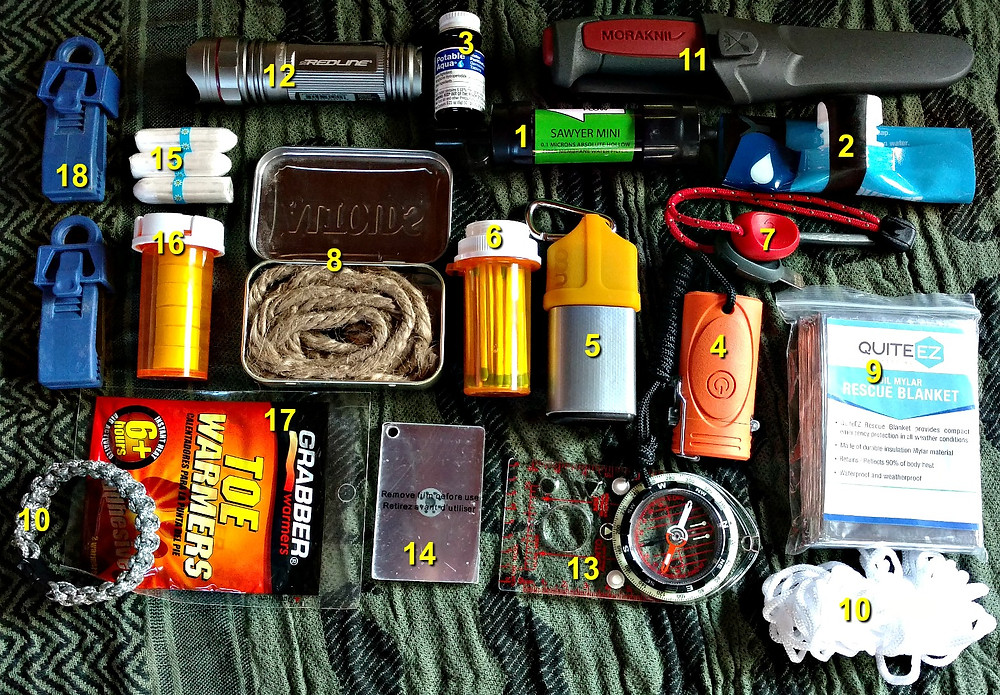 compact minimal survival kit