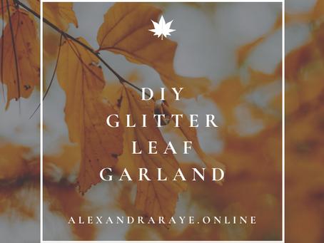 DIY Glitter Leaf Garland