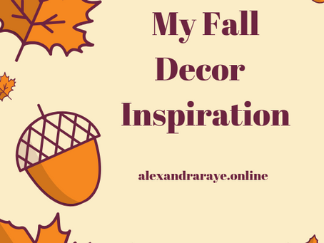 My Fall Decor Inspiration