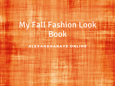 My Fall Fashion Look Book!