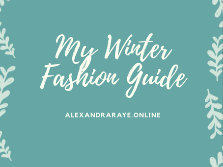 My Winter Fashion Guide