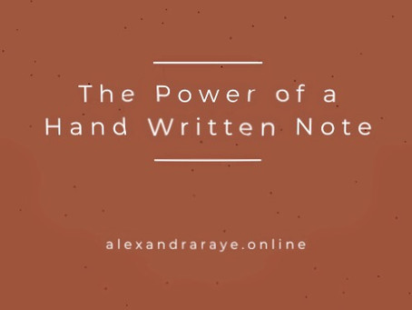 The Power of a Hand Written Note