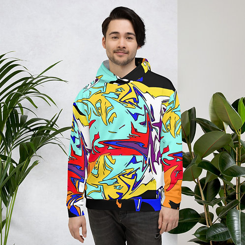 Graffiti Multi Color Abstract Unisex Hoodie