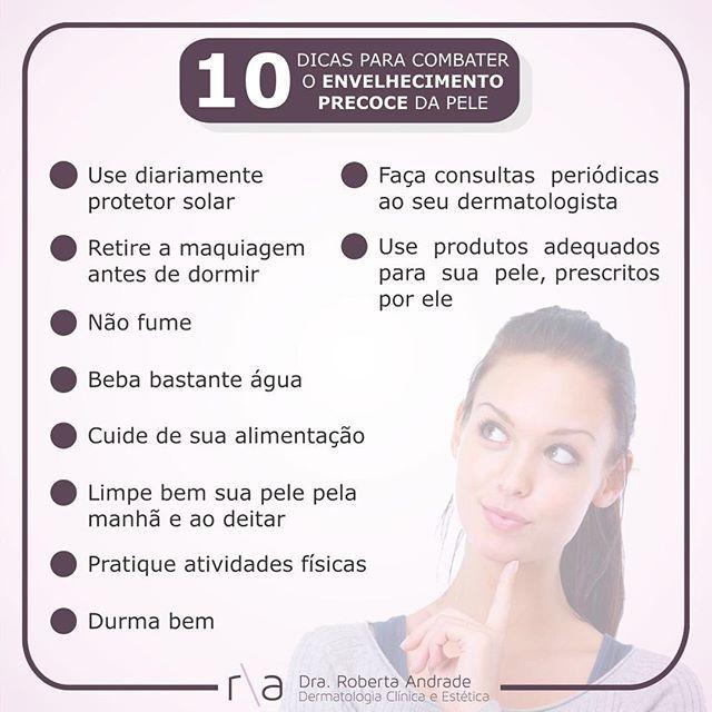 10 dicas para Combater Envelhecimento precoce da Pele