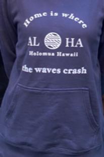 ALOHAプルオーバーパーカーネイビーLサイズ