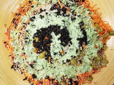 Green Goddess Carrot Yam Salad