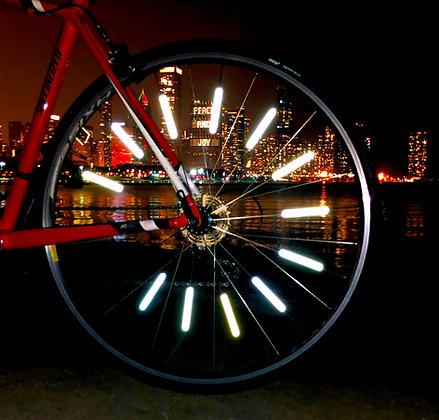 Razzle Dazzle Reflective Bike Spoke Covers