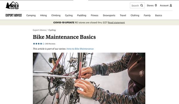 Bike Maintenance Basics REI