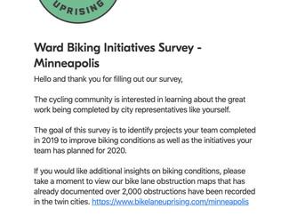 [ Request ] Minneapolis Ward Reps Biking Survey