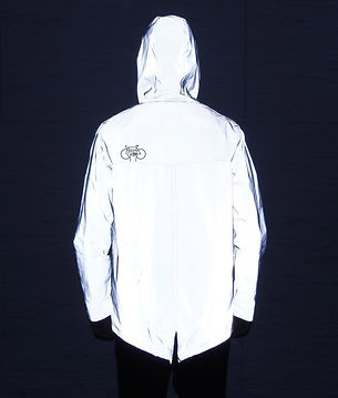 Reflective Jacket 3M Back in dark with l