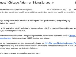 [ Request ] Chicago Alderman Biking Survey