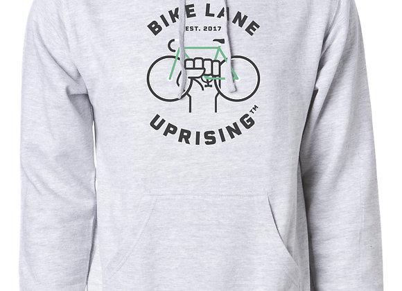Unisex Grey Hooded Sweatshirt