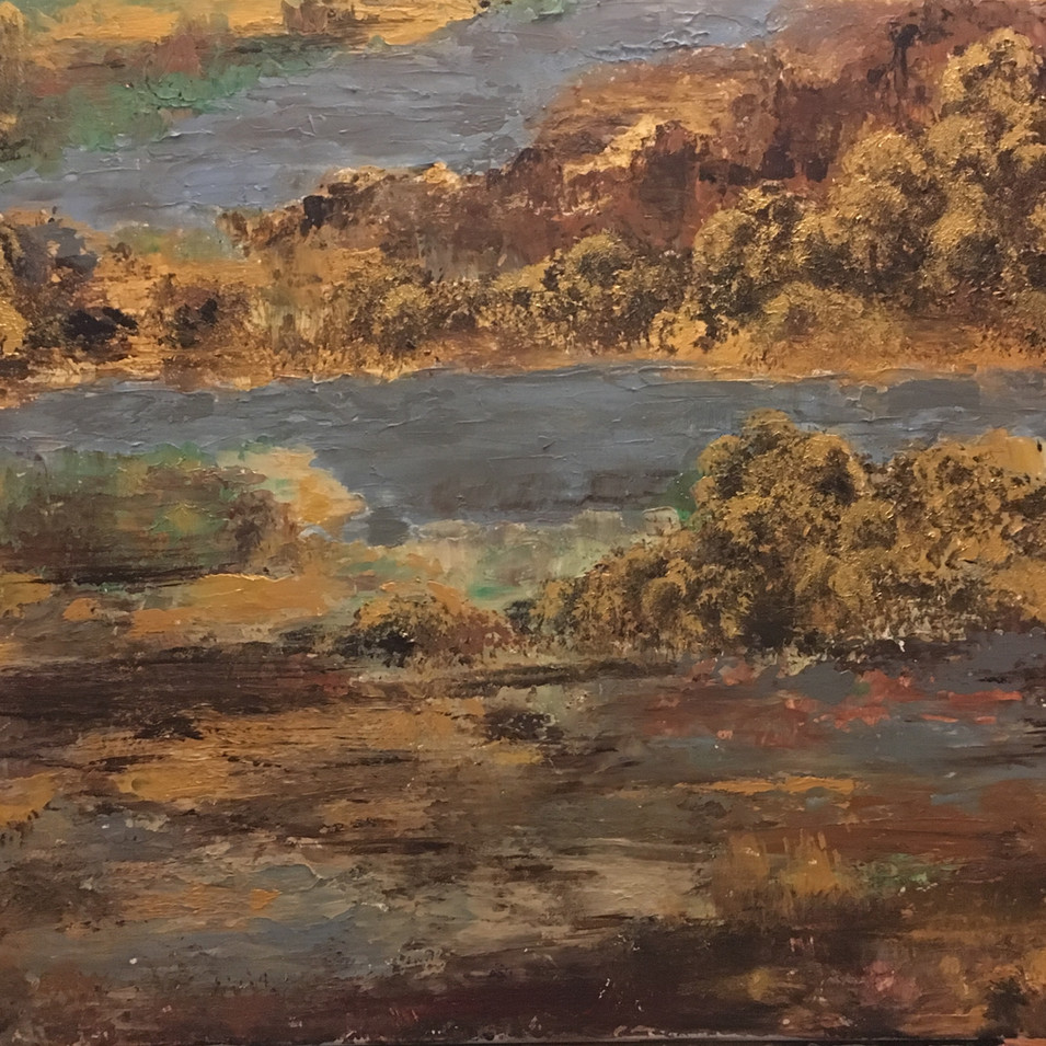 SOLD Autumn by the Lake  $210