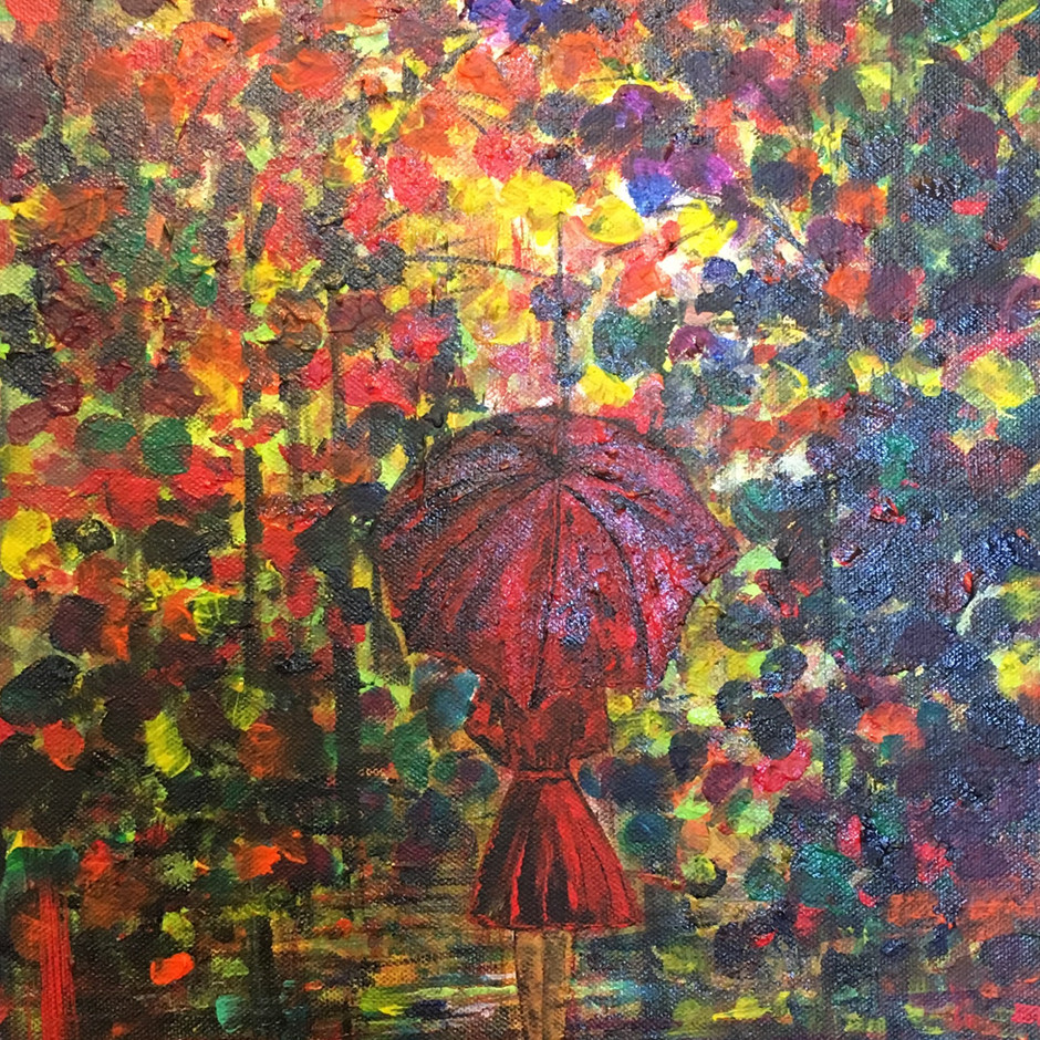 Red Umbrella  SOLD  $420