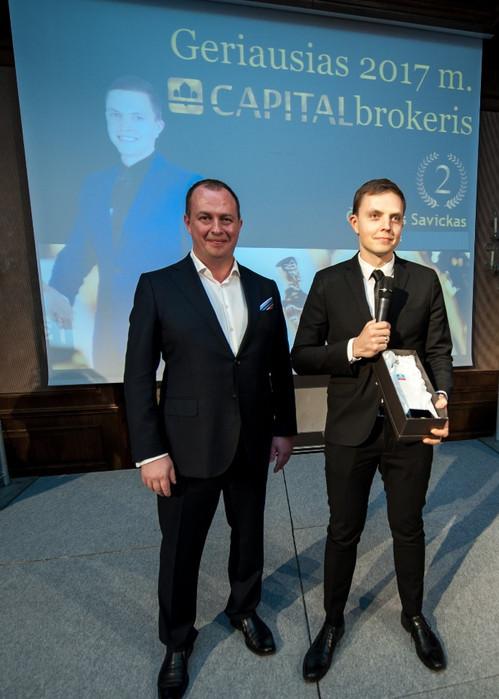 Geriausias viso Capital Lietuva tinklo brokeris II vieta - 2017m. 2018m.