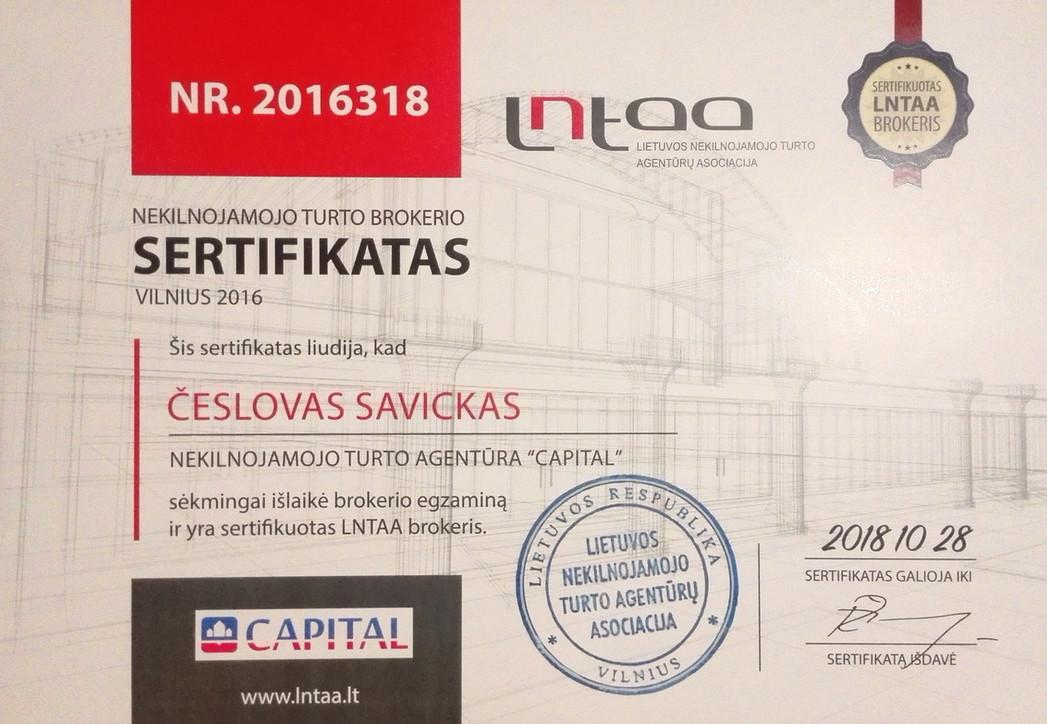 NT brokerio sertifikatas