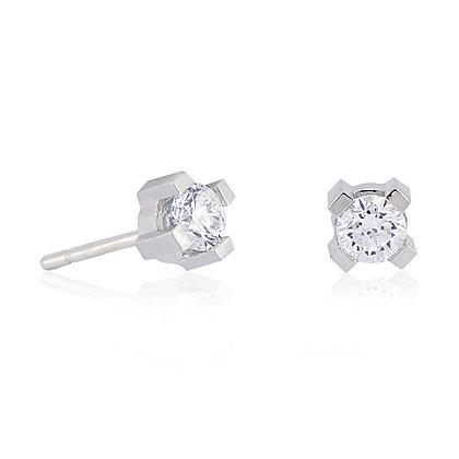 Pendiente garras Oro Blanco Diamante 359922H