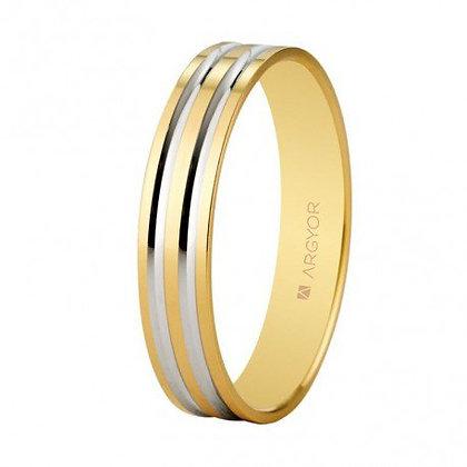 Alianza de boda franjas bicolor 4mm (5140210R)