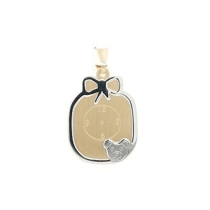 Medalla Reloj y osito oro M-2123033
