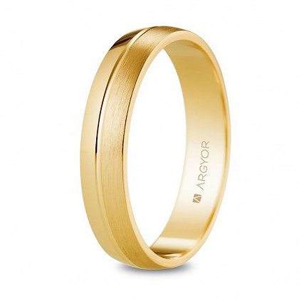 Alianza de oro 18k brillo/satinado 4mm (5140527)