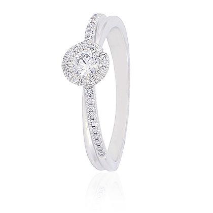Sortija Oro Blanco y Diamantes 317-01265