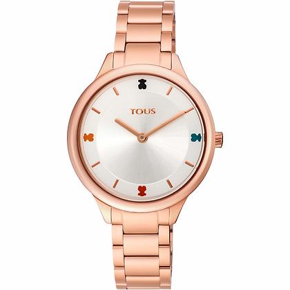 Reloj Tous Tartan de acero IP rosado - ref: 900350105