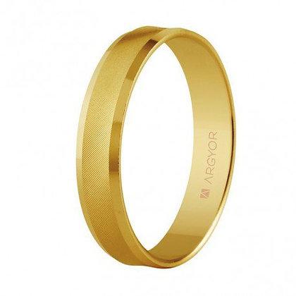 Alianza de boda de oro forma cóncava 4mm (5140308)