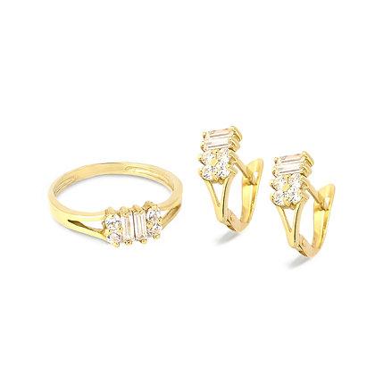 Aderezo oro y circonita comunión 65-1050a