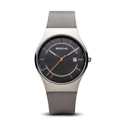 Reloj minimalista unisex esfera gris 11938-007