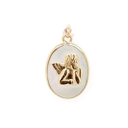 Medalla Ángel de la guarda oro y sacar 180-55