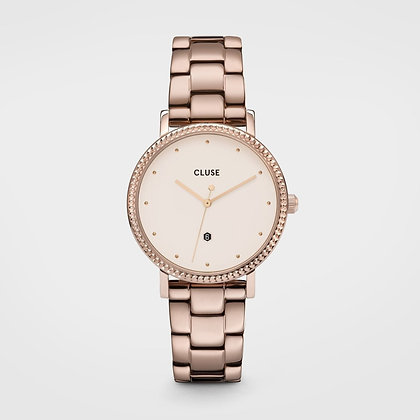 Reloj Cluse Le Couronnement 3-Link Rose Gold Winter white/Rose Gold CW01012090