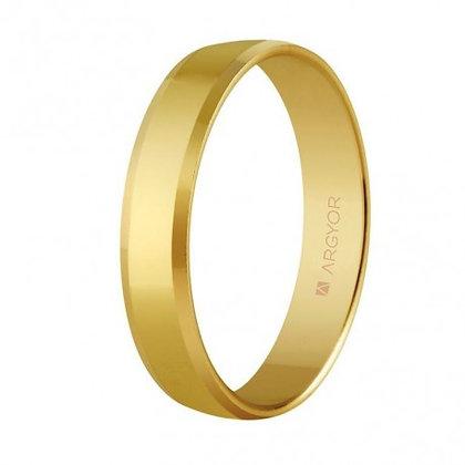 Alianza de oro plana acabado brillo biselada 4 mm (5140047)