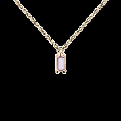 Collar Purple Asana gold CO01-133-U