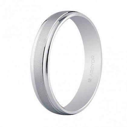 Alianza de boda oro blanco 4mm (5B40044)