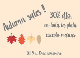 AUTUMN SALES 30% OFF