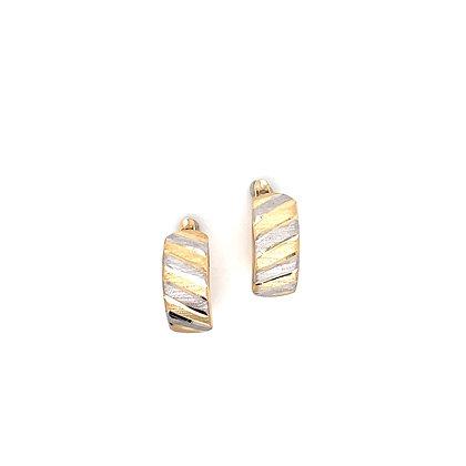 Pendiente bicolor - Ref: 475-00418