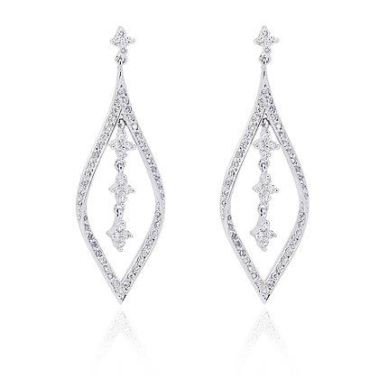 Pendientes Oro blanco y Diamantes 17620